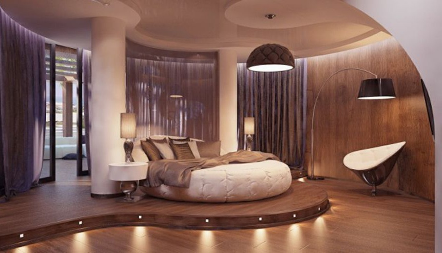 Mid-Century Modern Romantic Bedroom