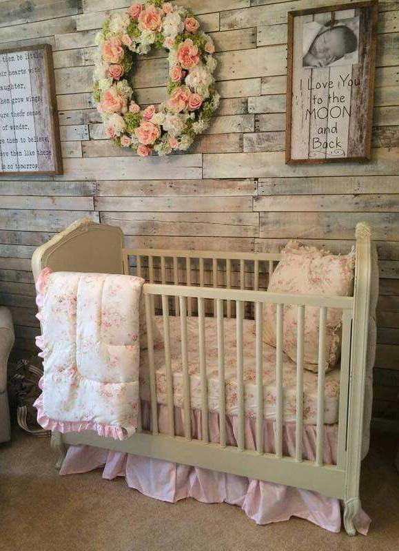Rustic Baby Girl's Room