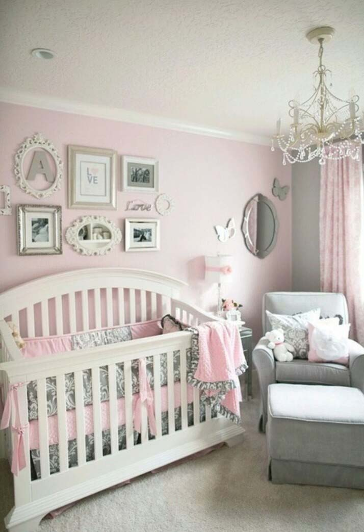 Shabby Chic Nursery for A Baby Girl