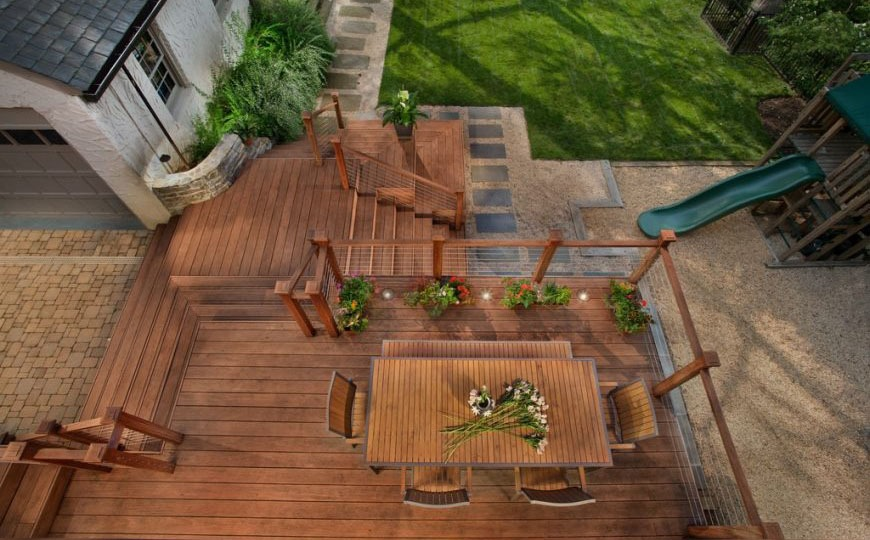 The Three-Level Deck and a Patio