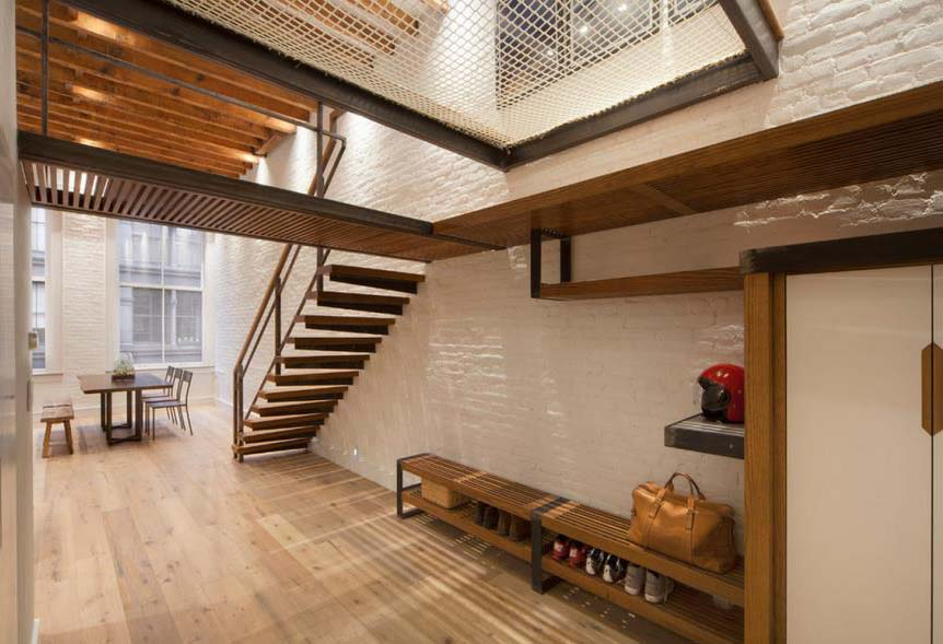 White Brick Wall in a Loft